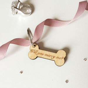 'Will You Marry Me?' Dog Tag - dogs