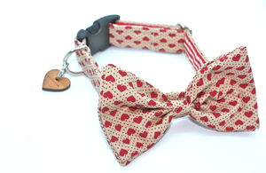 Dickie Valentine Bow Tie Dog Collar By Scrufts - more