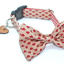 Dickie Valentine Bow Tie Dog Collar By Scrufts