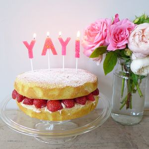 Yay Cake Candle Set - cakes & treats