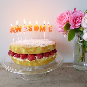 Awesome Cake Candle Set - occasional supplies
