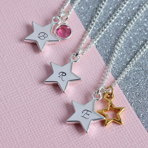 Personalised Star Charm Necklace - gifts for friends