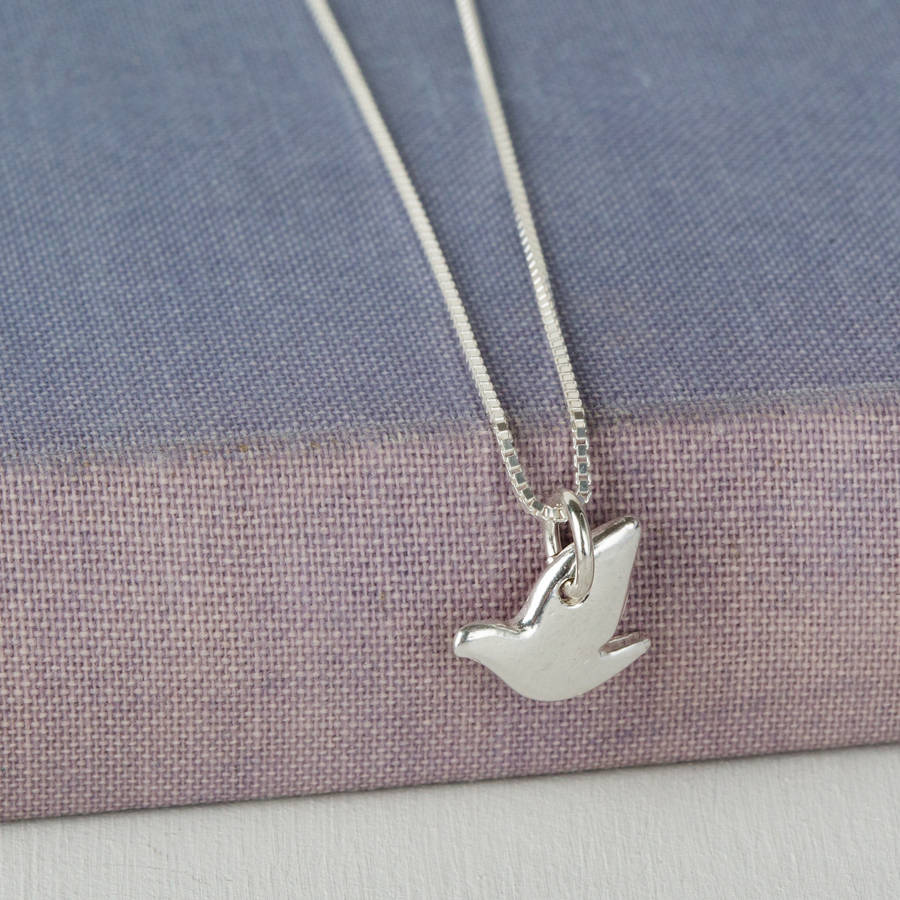 Sterling silver dove pendant by jenny grace jewellery sterling silver dove pendant bat mitzvah gift mozeypictures Image collections