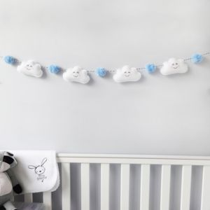 Cloud Garland With Coloured Pom Poms - home accessories