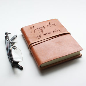 Personalised Leather Notebook / Journal - stationery
