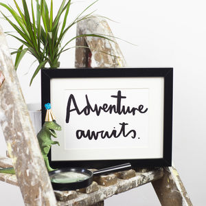 'Adventure Awaits' Print - frequent traveller