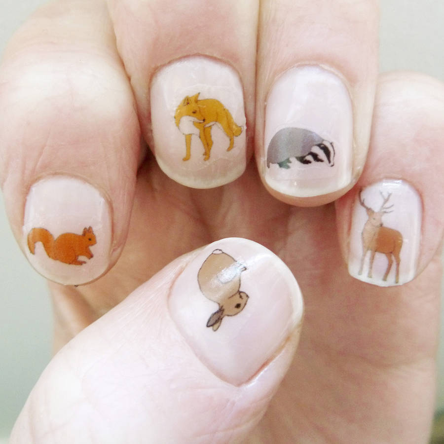 Woodland Animal Nail Art Transfers By Kate Broughton