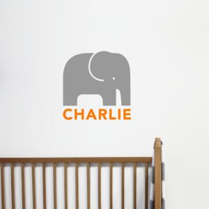Personalised Children's Elephant Wall Sticker - wall stickers