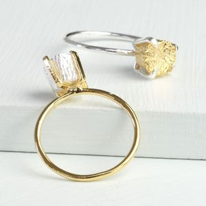 Mixed Metal Nugget Ring
