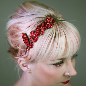 Custom Glitter Word Or Name Headband - hen party dress up