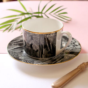 Wonderland Illustrated Tea Cup And Saucer