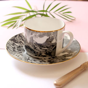 Neverland Illustrated Tea Cup And Saucer