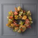 Autumn Oak Leaf Halloween Wreath