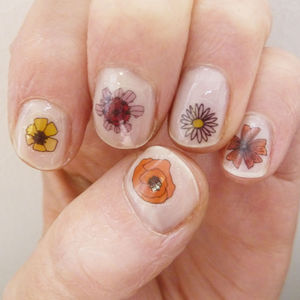Wild Flower Nail Art Stickers