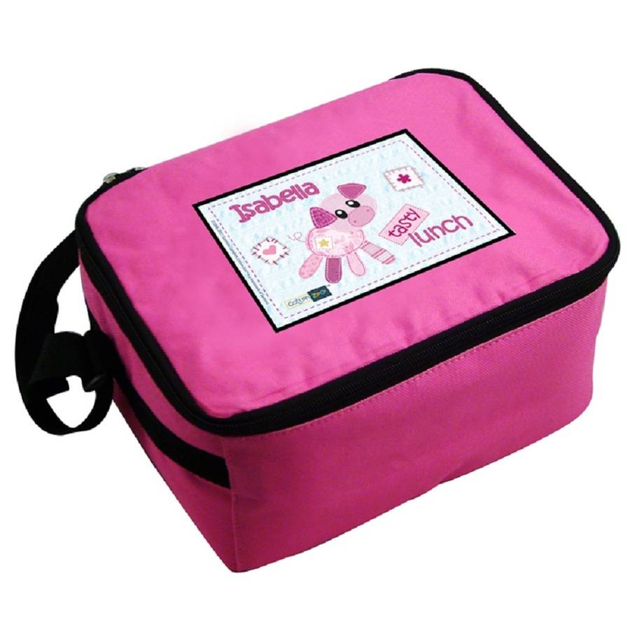 Personalised Pink Piglet Lunch Bag