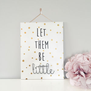 'Let Them Be Little' Wire Wall Plaque - pictures & prints for children