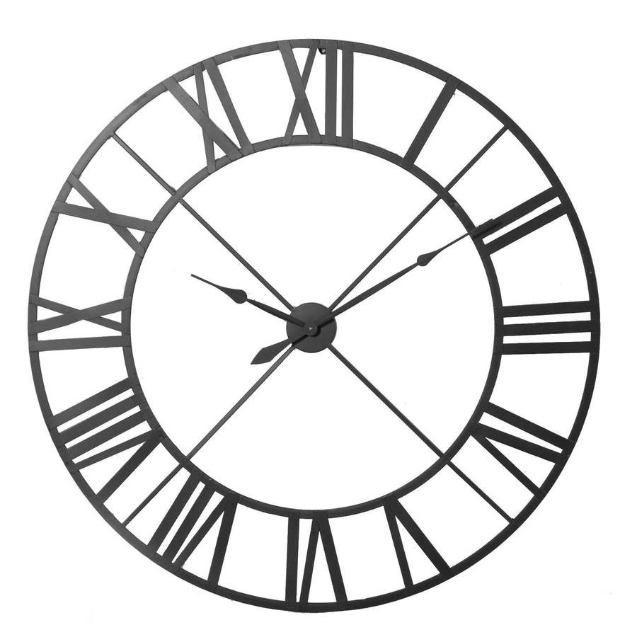Steeple Iron Large Wall Clock Bronze Black Or White By
