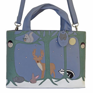 Forest Friends Leather Grab Or Shoulder Bag 45% Off