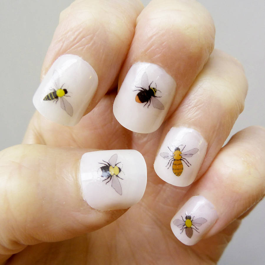 bee nail art transfers by kate broughton. Black Bedroom Furniture Sets. Home Design Ideas