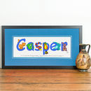 Personalised 'Animal Name' Print