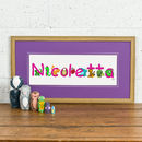 Personalised 'Animal Name' Children's Print
