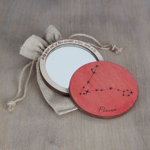 Horoscope Compact Mirror - gifts for friends