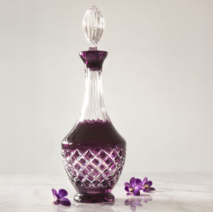 Aubergine Decanter - glassware