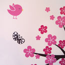 Personalised Monkey Blossom Wall Stickers