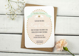 Bird Gem Evening Invite - invitations