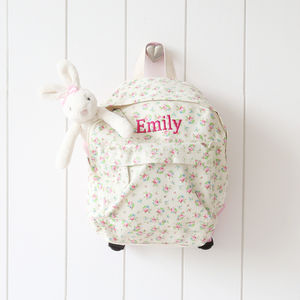 Floral Ditsy Print Backpack - for under 5's