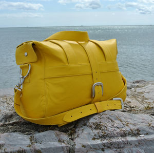 Handcrafted Yellow Overnight Bag - cross-body bags
