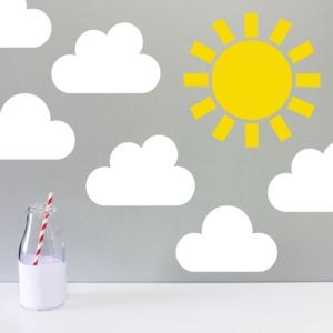 Children's Weather Wall Sticker - bedroom