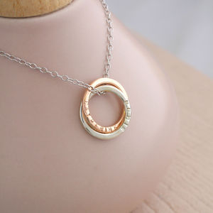 Personalised 9ct Rose Gold Halo Necklace - necklaces & pendants