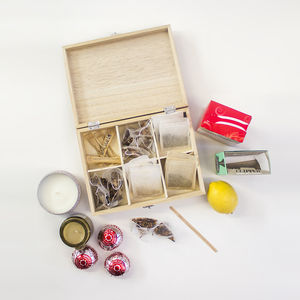 Customisable Wooden Tea Box