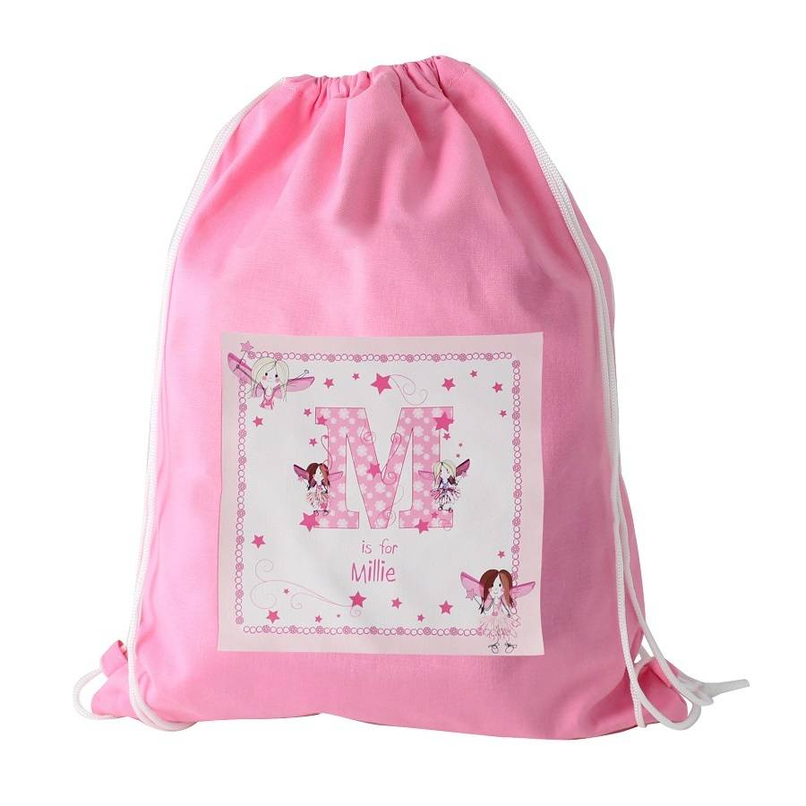 Personalised Pink Fairy Letter Kit / Swim Bag