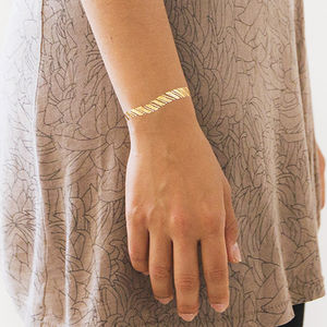 Gold Friendship Bracelet Temporary Tattoos - temporary tattoos