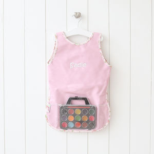 Personalised Pink Painting Apron