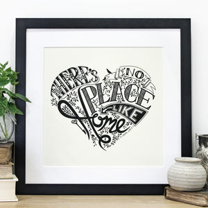 'No Place Like Home' Wizard Of Oz Heart Print - new home gifts
