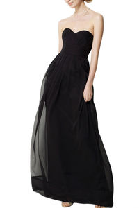 Simple Strapless Chiffon Bridesmaid Dress - bridesmaid dresses
