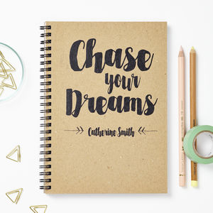 Personalised Recycled Dreams Notebook - gifts for her