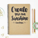 Personalised Recycled Sunshine Notebook