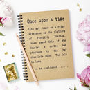 Personalised Once Upon A Time Notebook