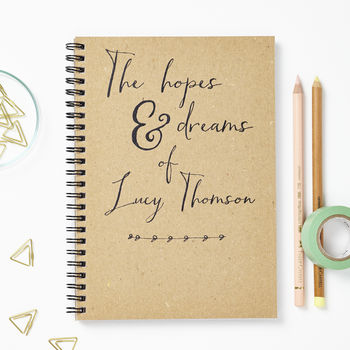 Personalised Hopes Recycled Notebook