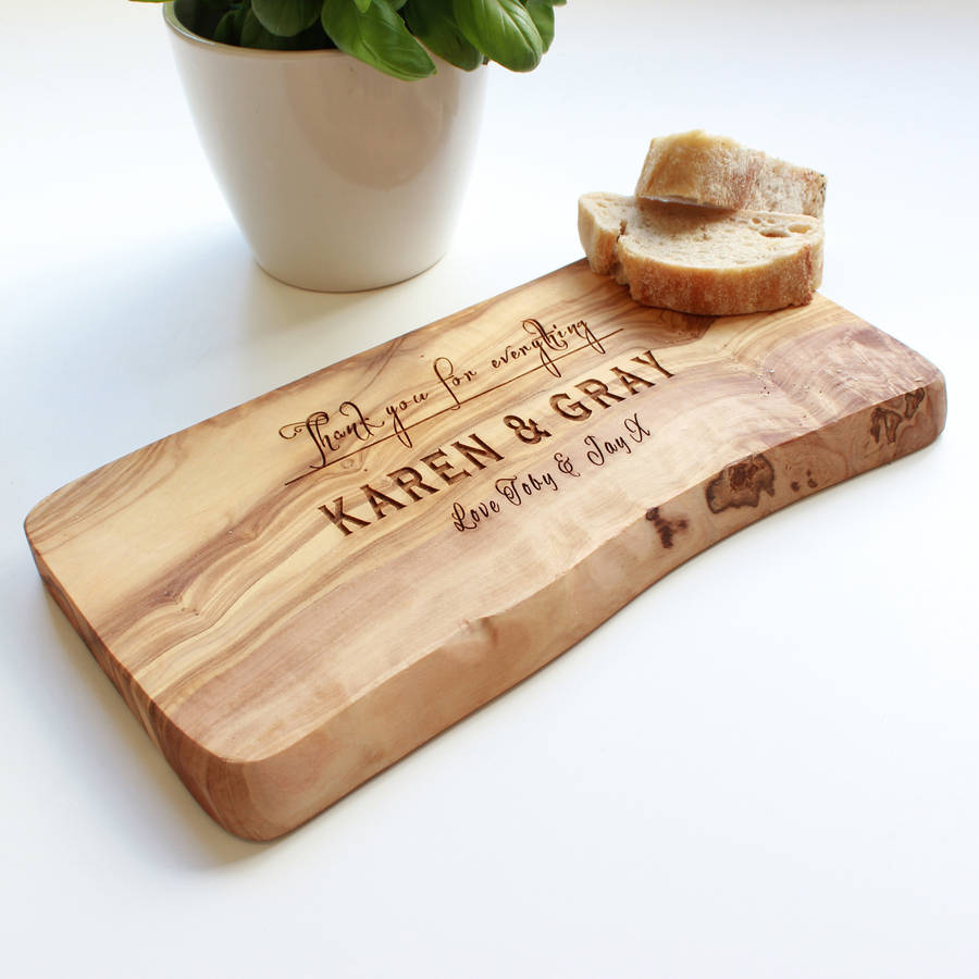 Wooden Cheese Boards ~ Personalised wooden chopping cheese board by the rustic