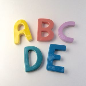 Ceramic Letter Fridge Magnets - children's room accessories