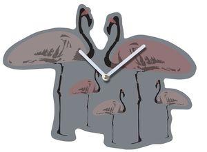 Flamingo Party Wall Clock - clocks