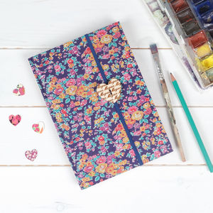 Liberty Print Fabric Notebook For Her - notebooks & journals