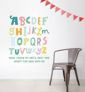 Children's Pastel Alphabet Wall Sticker
