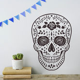 Day Of The Dead Mexican Skull Vinyl Wall Sticker - halloween
