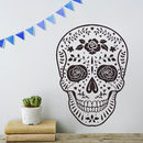Day Of The Dead Mexican Skull Vinyl Wall Sticker